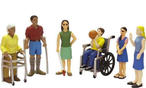 Spielfiguren mit Behinderung