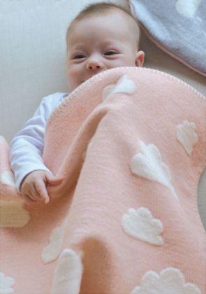 Wölkchen Babydecke