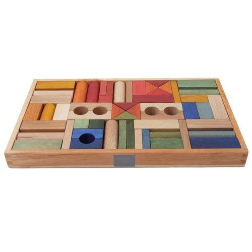 Regenbogen Holzklötze-Box