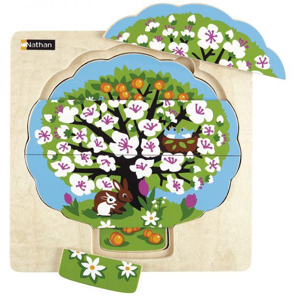 Baum in den Jahreszeiten - Legepuzzle
