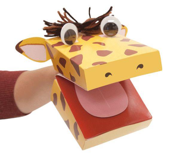 Bastelset Handpuppe Giraffe