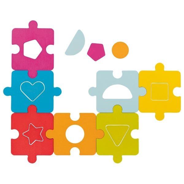 Buntes Stapel-Puzzle