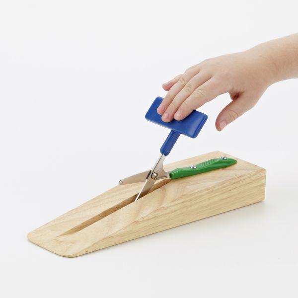 Push-Down Schere mit Holzständer