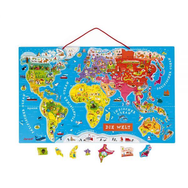 Landkarten-Puzzle mit 92 magnetischen Puzzle-Teilen. - voraussichtlich ab Mitte/ Ende April wieder