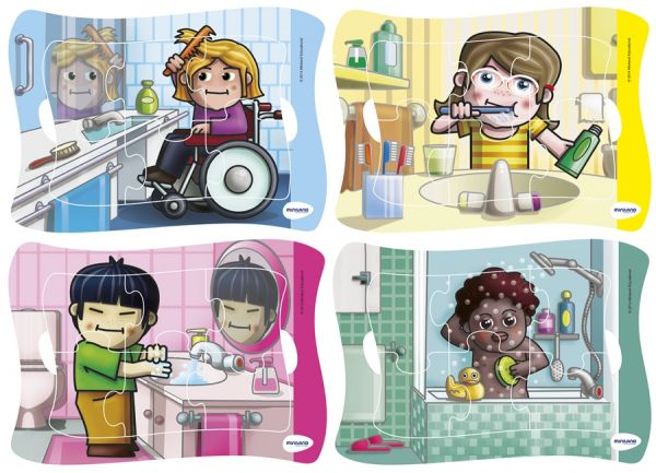 Großes Rahmenpuzzle Hygiene