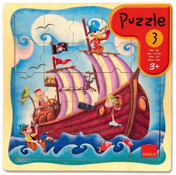 Puzzle Seeräuberschiff 25 Teile