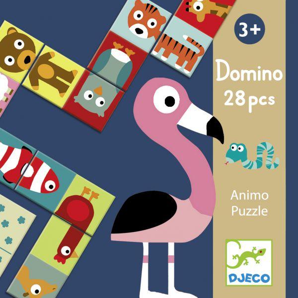 Domino Puzzle Tiere